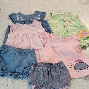 Lot of 4 outfits see pics size 3-6 months